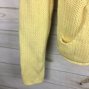 Next Era Jackets & Coats - Next Era Yellow Knit Cropped Elbow Patch Jacket M